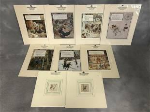 Antique Mother Goose Color Plate Prints