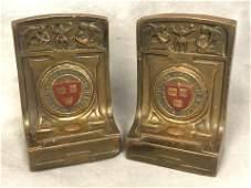 Pr Antique PManfredi Harvard Bookends  Bronze Clad