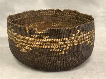 Native American Karok Tribe Basket - Northern CA Tribe