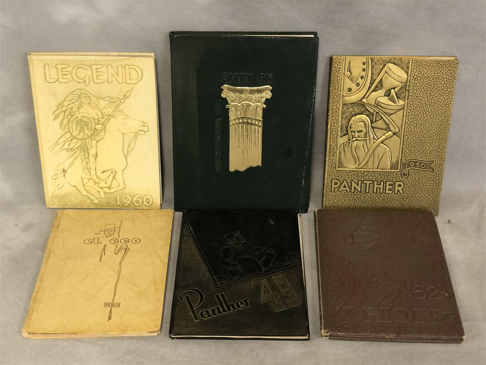 1936-1966 Yearbooks, L.A.City & Antioch High,More