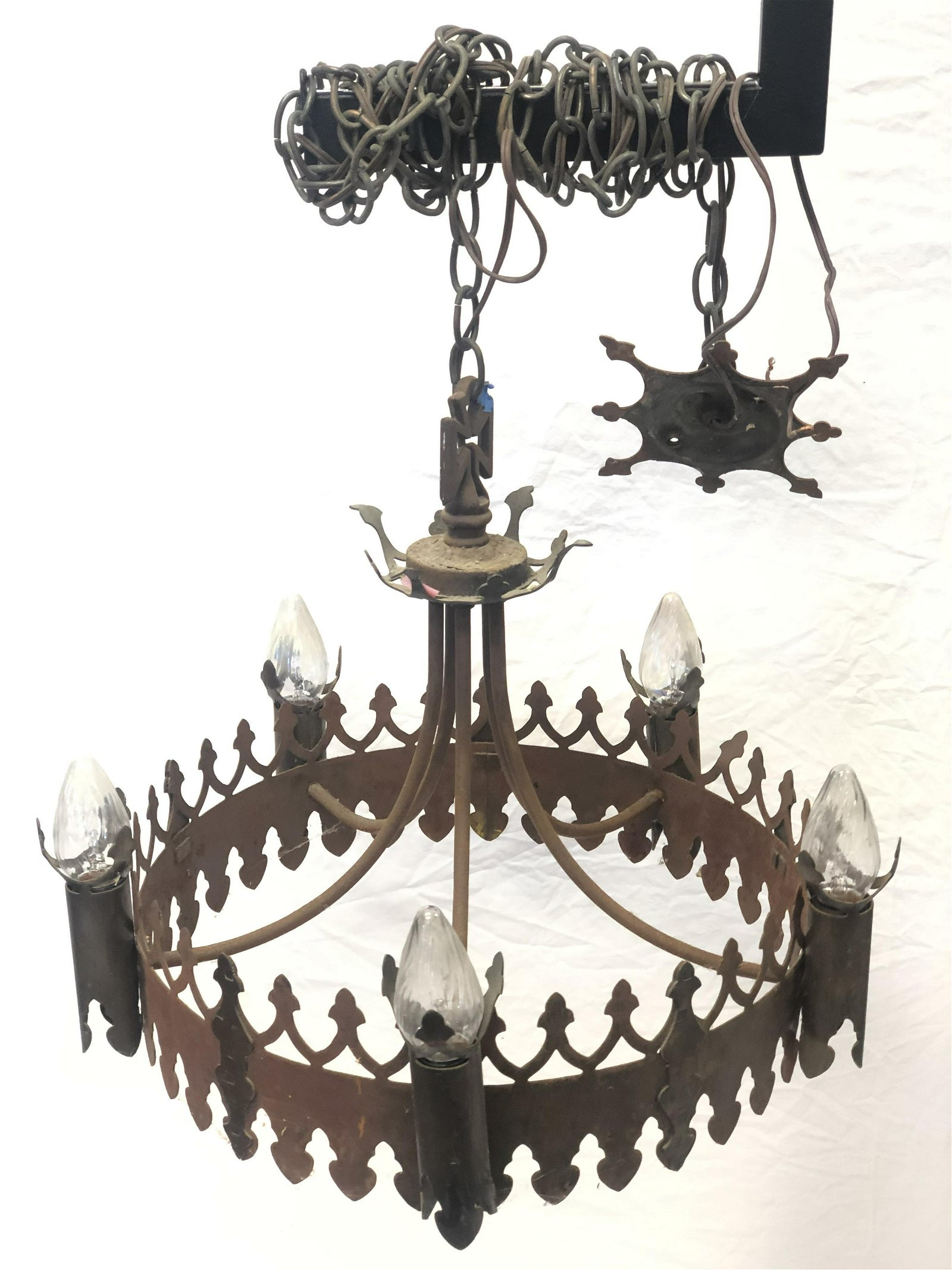 (2)Antique Gothic Style Chandeliers