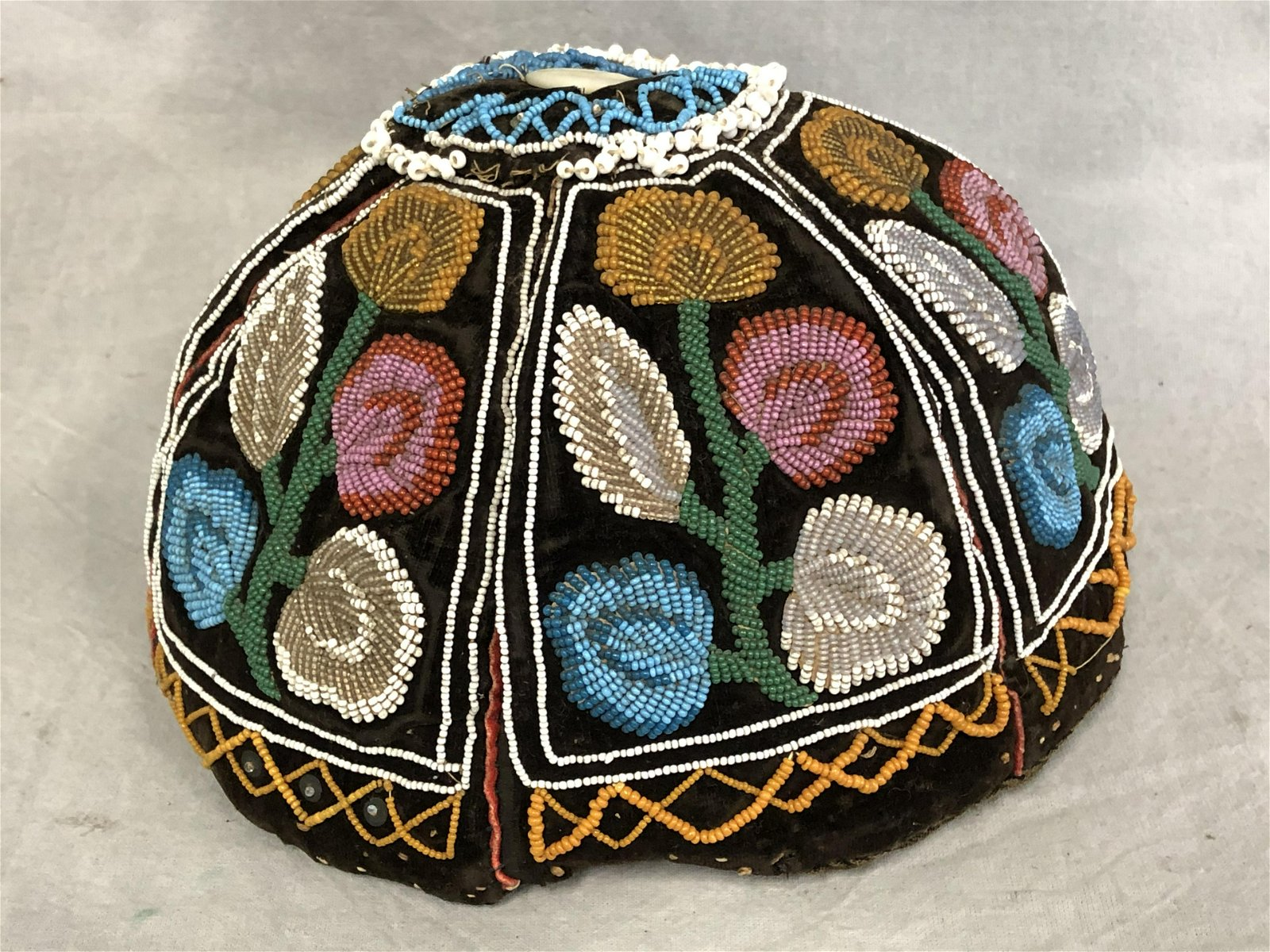 19thC. Iroquois Tribe Dome Hat