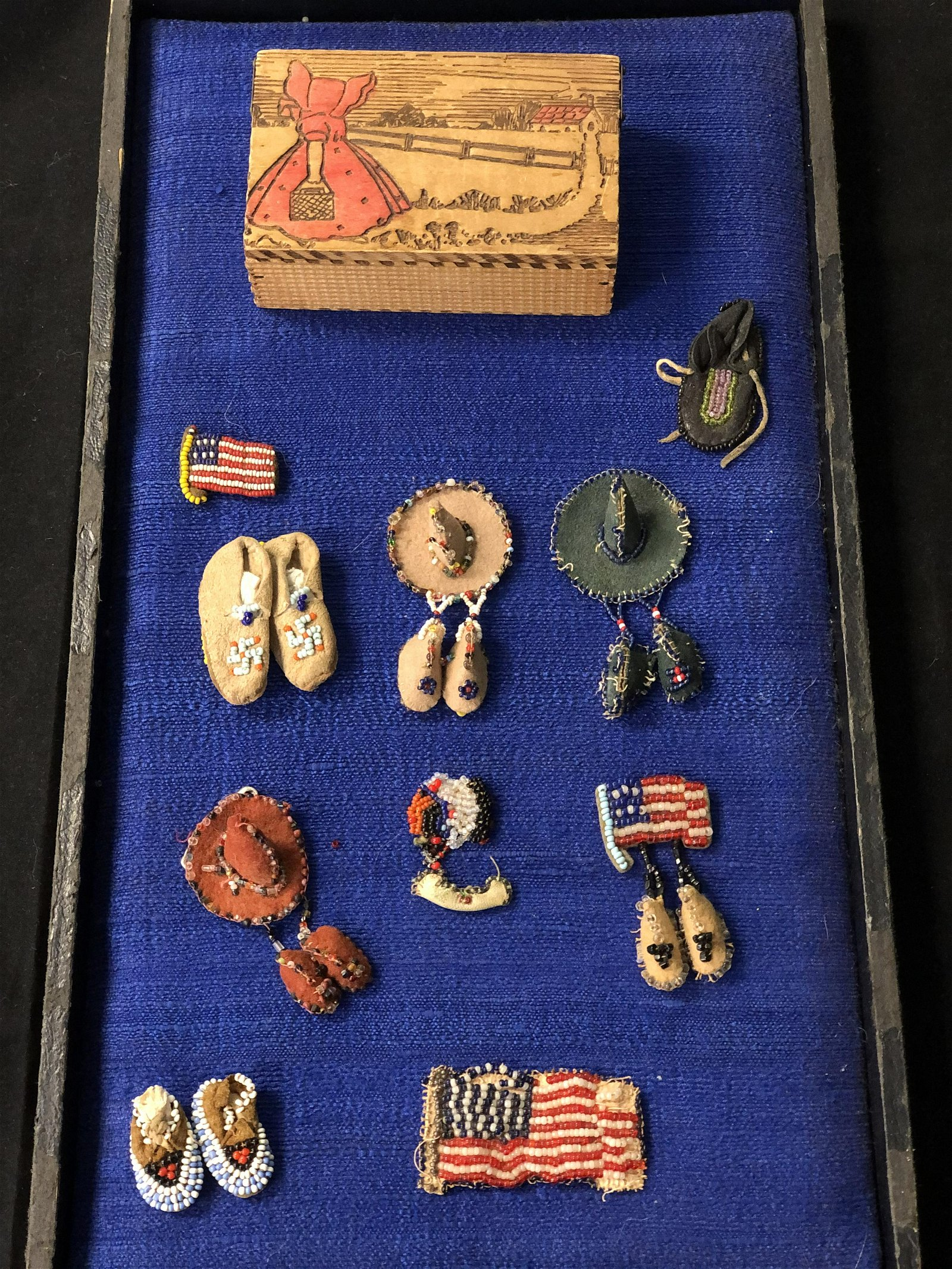 Native American Miniature Beadwork Items