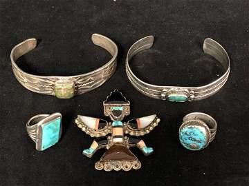 Vintage Navajo Sterling Silver Jewelry