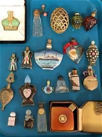 (20)Asst Vintage Perfume Bottles - Porcelain, Glass &