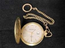 14K Gold Pocket Watch  Fob JJurgensen  14K Gold