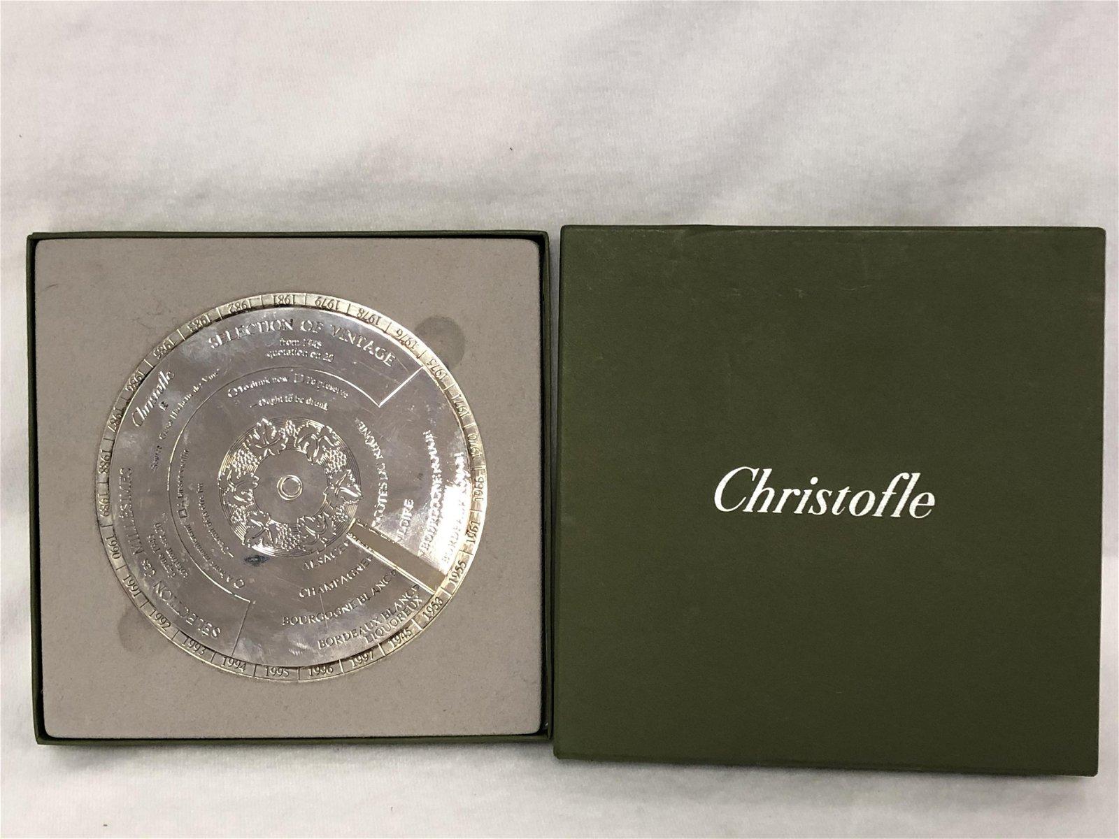 Christofle Oenologie Bottle Coaster - Disque Des