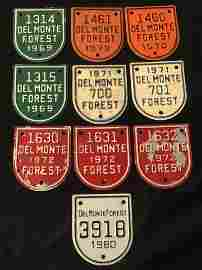 (10)Del Monte Forest Pebble Beach Gate Badge - (1969 -