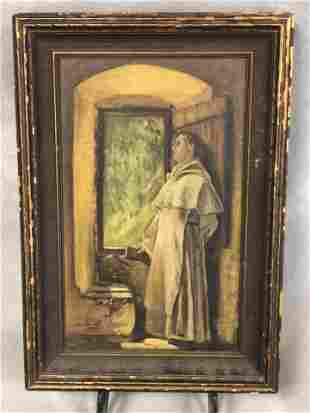Signed 1931 Religious Oil on Canvas, A.Smith - Framed