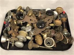 Atq/ Vtg Hardware, Eastlake, Glass Knobs, More - Ebony