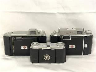 (3)Vtg Cameras, Voigtlander, Kodak Tourist - Kodak