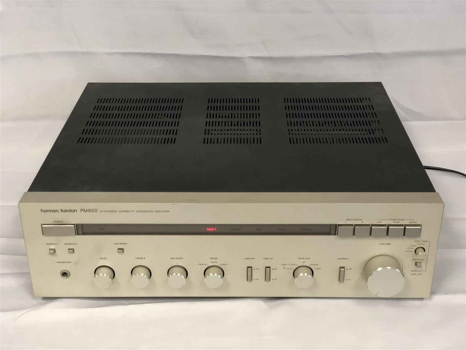 Harman Kardon Amplifier PM650 - Powers Up, UNTESTED