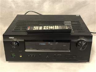 Denon AVR 591 Surround Receiver w/ Remote - Powers Up,
