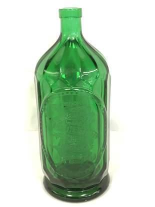 Emerald Green Glass Seltzer Bottle - 'Societe