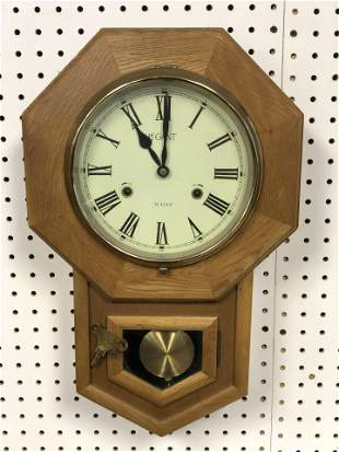 LeGant 31 Day Regulator Wall Clock - Chimes on 1/2