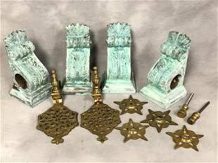 (4)Wall Sconces, Brass Knockers, More