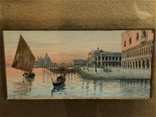 Atq Signed Italian WC 'Natale Gavagnin' - (1851-1923),