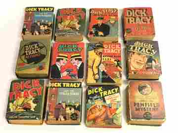 (12)1930s - 40s Dick Tracy Big Little Books - The