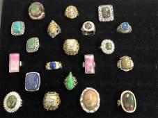20Asst Karis  Costume Rings w Stones  Various