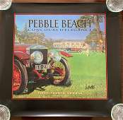 3Signed Concours D Elegance Posters  Pebble Beach