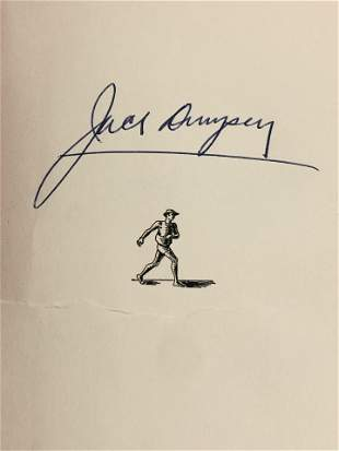 Autographed Jack Dempsey 1st Edition Book - Titled