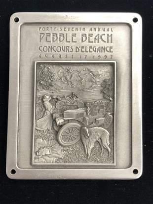 Concours D Elegance Pebble Beach VIP Plaque - 1997