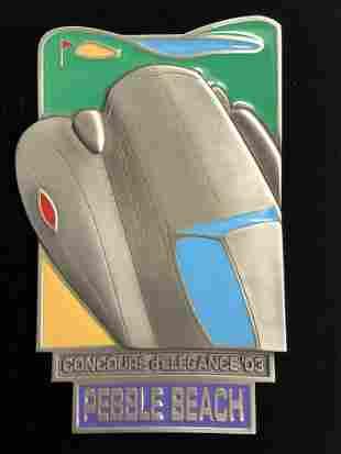Concours D'Elegance Pebble Beach VIP Plaque - Limited