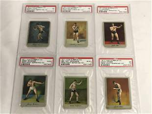 6-1911 T225 SurbrugCo Tobacco Boxing Cards - Graded