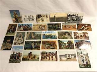 (25)Vintage Native American Themed Postcards - Unused,