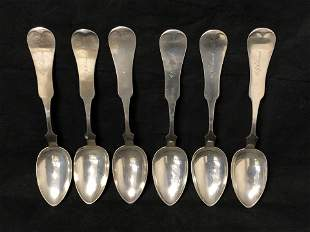 (6)Antique Sterling Silver Spoons, 281g - Duhme & Co