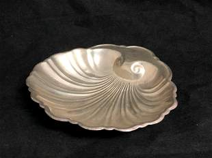 Vtg Sterling Silver Shell Bowl / Dish, 60. 4g Total