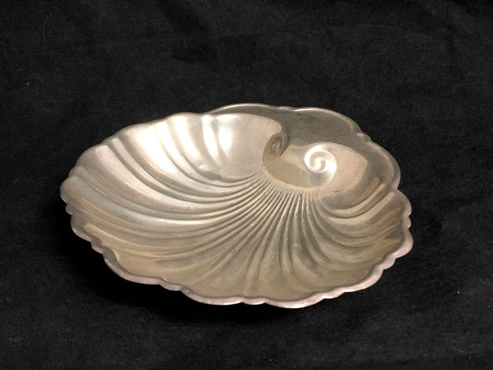 Vtg Sterling Silver Shell Bowl / Dish, 60. 4g Total