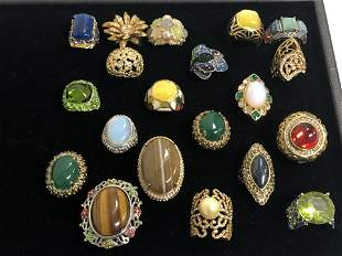(20)Asst Costume Jewelry Rings, Sz 7 / 8 - Various