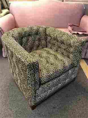 Leopard Print Modern Armchair w/ Throw Pillows - Pick