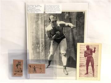 Jack Johnson & James Jeffries Boxing Memoribilia - Jack