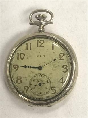 1920s Elgin Pocket Watch, 14K Gold Case - 17 Jewels