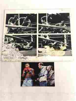 Signed Boxing Photos - M.Tyson & B.Douglas - Mike Tyson
