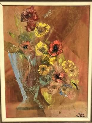 Signed CA Artist Oil on Board 'Irma Wallem' - Oil &