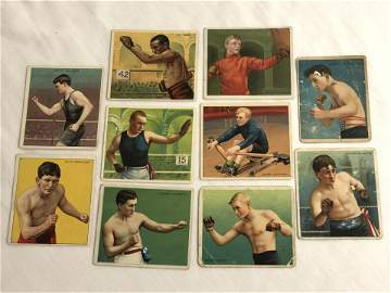 (10)1910 T218 Cigarette Boxing Cards - Joe Gans, Dave
