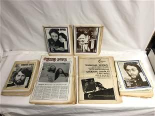 (5)1969-1971 Asst Rolling Stone Magazines - #57 Paul