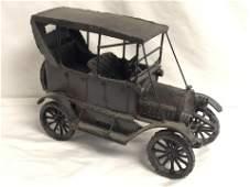 1913 Iron / Metal Overland Touring Car Model - Display