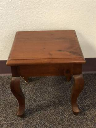 Wooden Stool / Display Stand, 11.5''x11.5''x12''