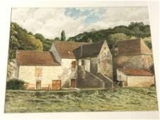 Signed 'Don Sterloff' Watercolor Landscape - CA Artist,