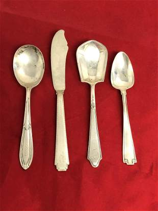 Atq Sterling Spoons, Spreader Deco, 112.5g - Sugar
