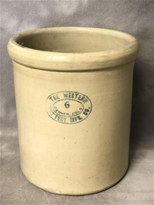 The Western Pottery Denver #6 Crock - Stoneware Crock -