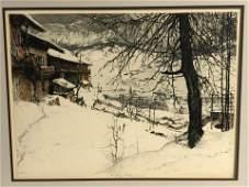 Signed Luigi Kasimir(1881-1962)Color Etching - 1925