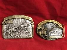 (2)#'d Limited Edition Sheriff CSSA Belt Buckles -