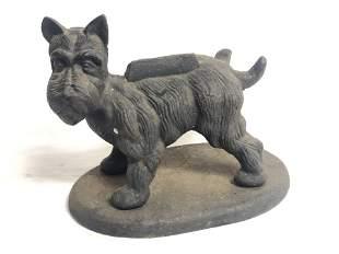 Cast Iron Terrier Boot Scraper, 15.25'' x 9.75'' x 13''