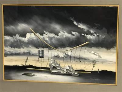 Signed 'William Ward Beecher' Surrealist Art - 1946