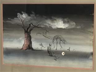 Signed William W. Beecher(1921-2006)Surrealist Art -